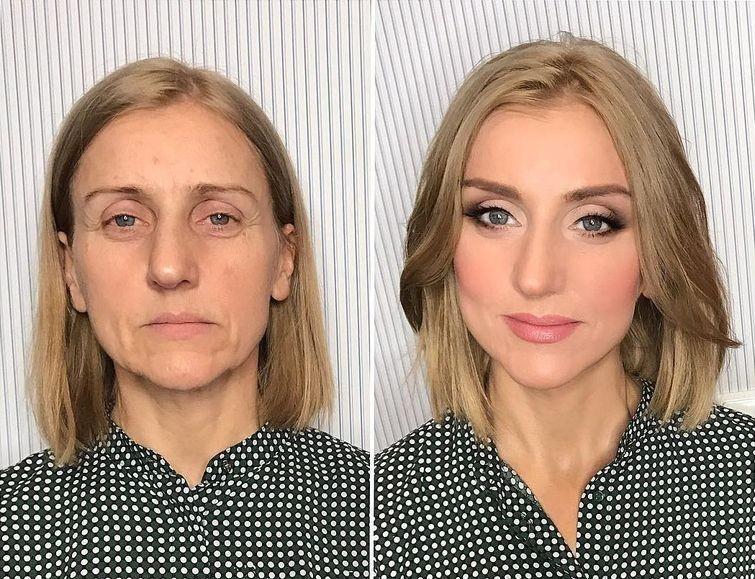 только заглянуть преображение до и после макияжа фото отправить