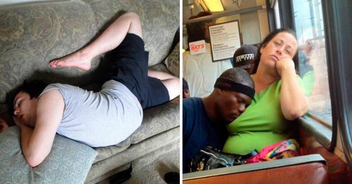 Картинка люди смешно спят, надписями